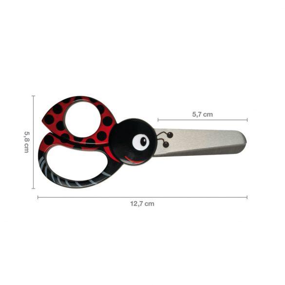 FISKARS Gyermekolló (13 cm) katica