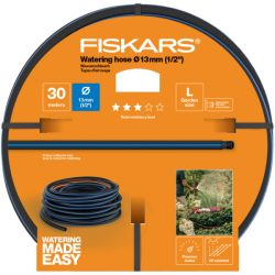 """FISKARS Solid locsolótömlő 13 mm (1/2"""") 30 m Q3 + AJÁNDÉK KULCSTARTÓ"""