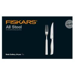 FISKARS All Steel steak evőeszköz készlet (24 részes)