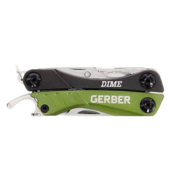 GERBER DIME mini kombinált szerszám, zöld