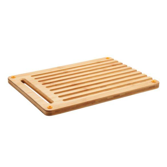 FISKARS Functional Form bambusz vágódeszka és kenyérvágó kés