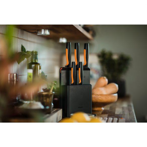 FISKARS Functional Form késkészlet, 5 késsel, műanyag blokkban