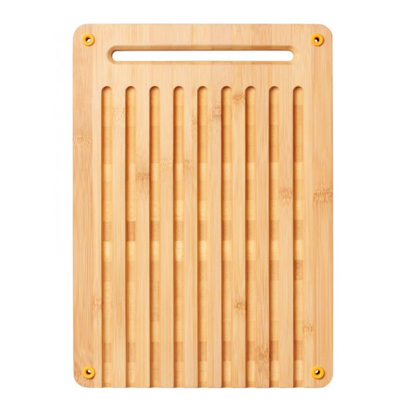 FISKARS Functional Form bambusz vágódeszka kenyérszeleteléshez